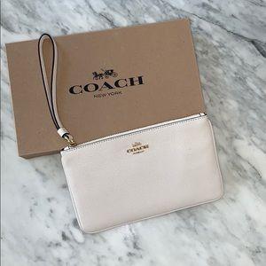 Coach Authentic white/cream wristlet